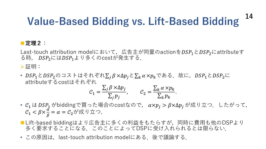 Value-Based Bidding vs. Lift-Based Bidding n 定理...