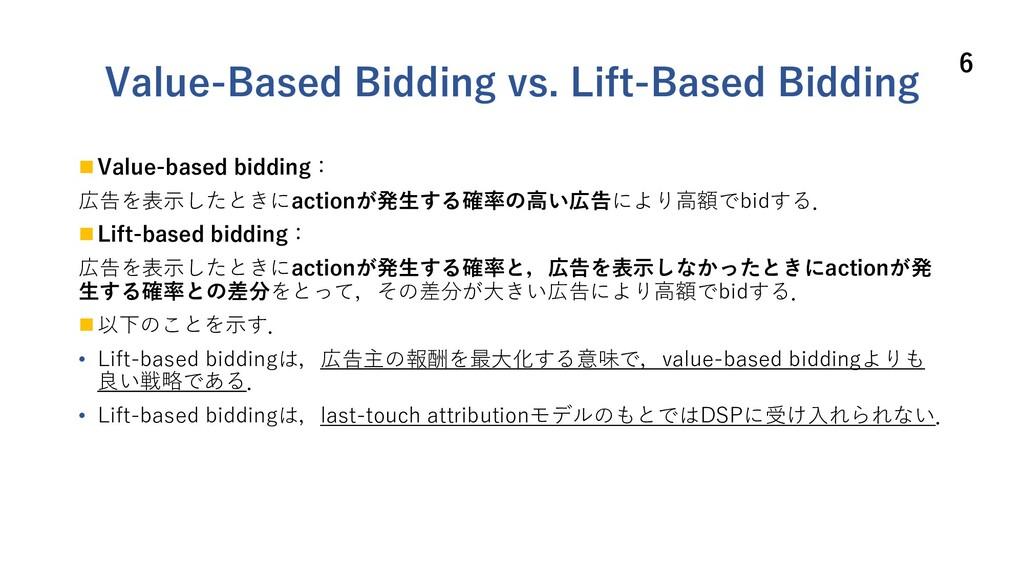 Value-Based Bidding vs. Lift-Based Bidding n Va...