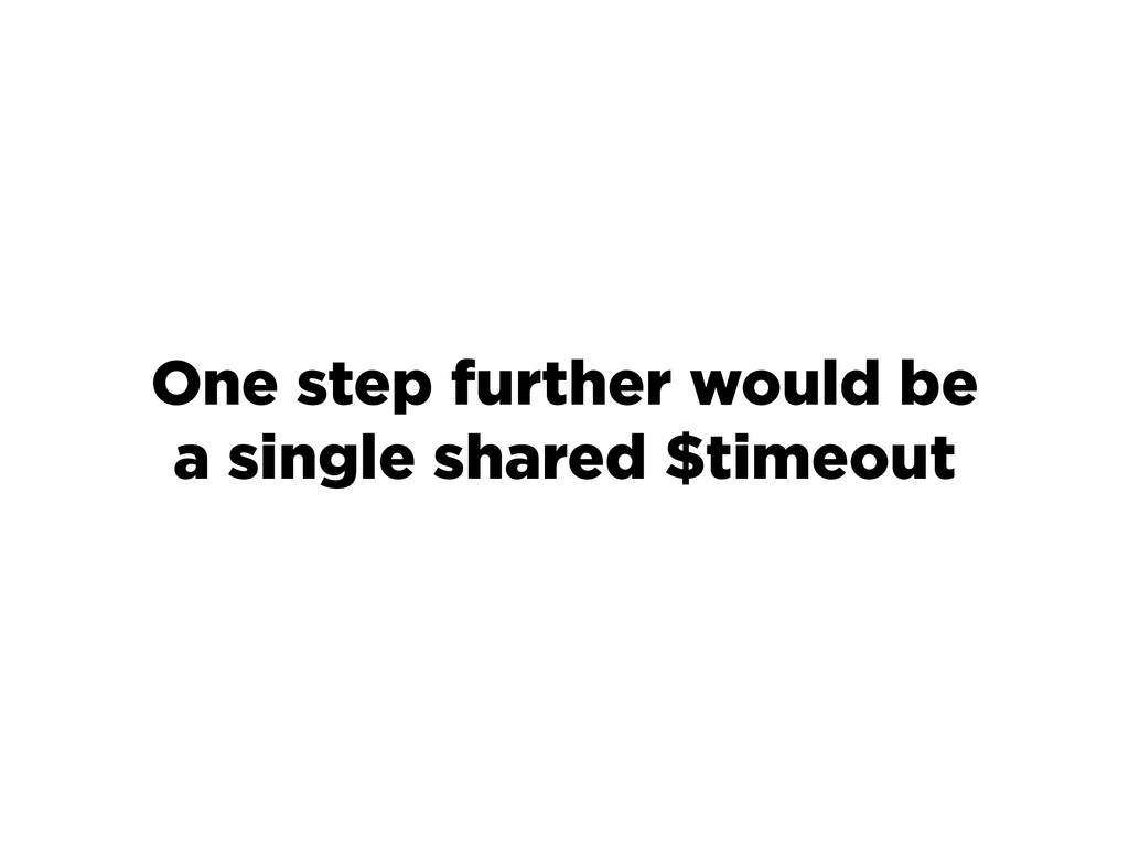 One step further would be a single shared $time...