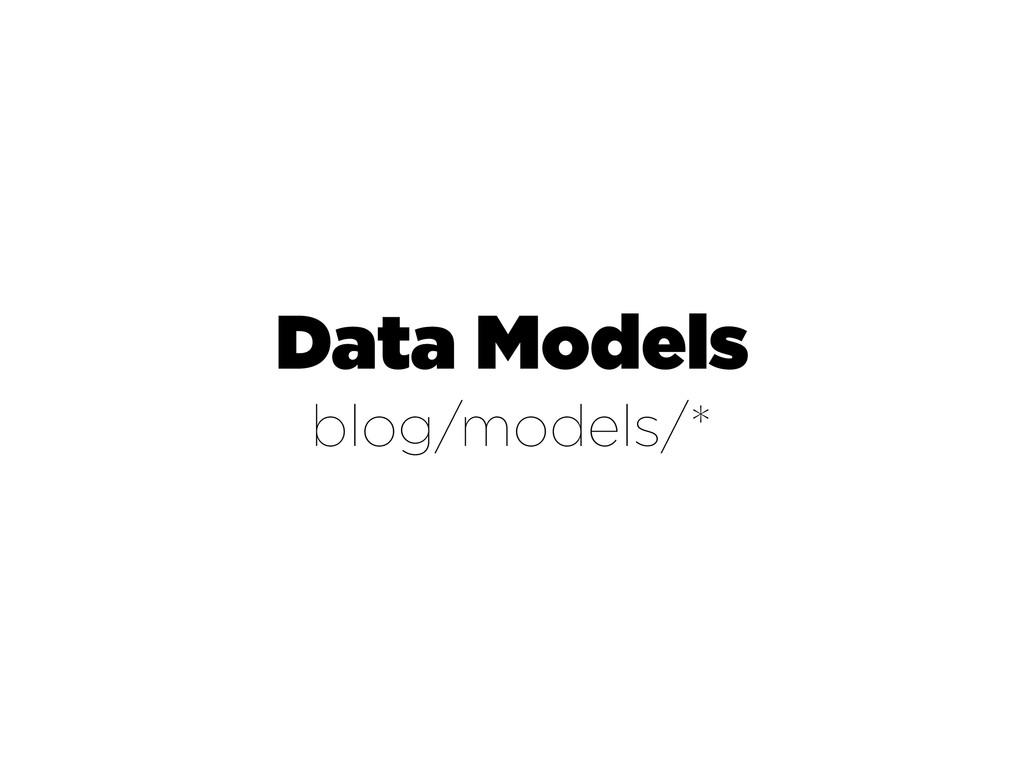 Data Models blog/models/*