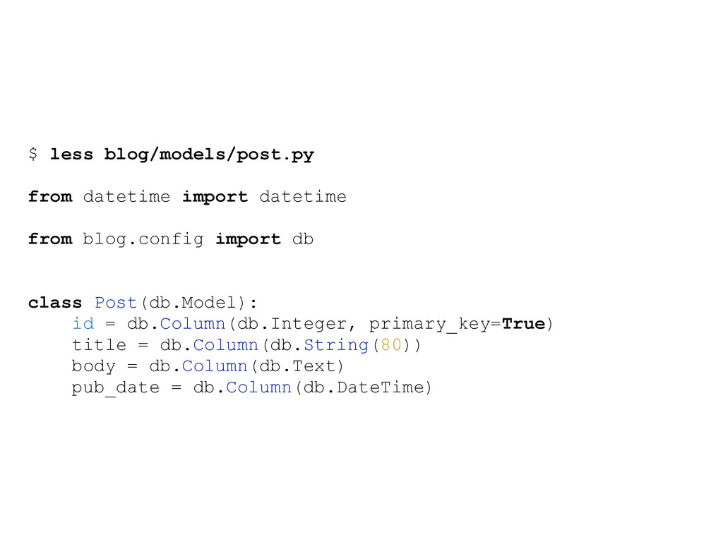 $ less blog/models/post.py from datetime import...