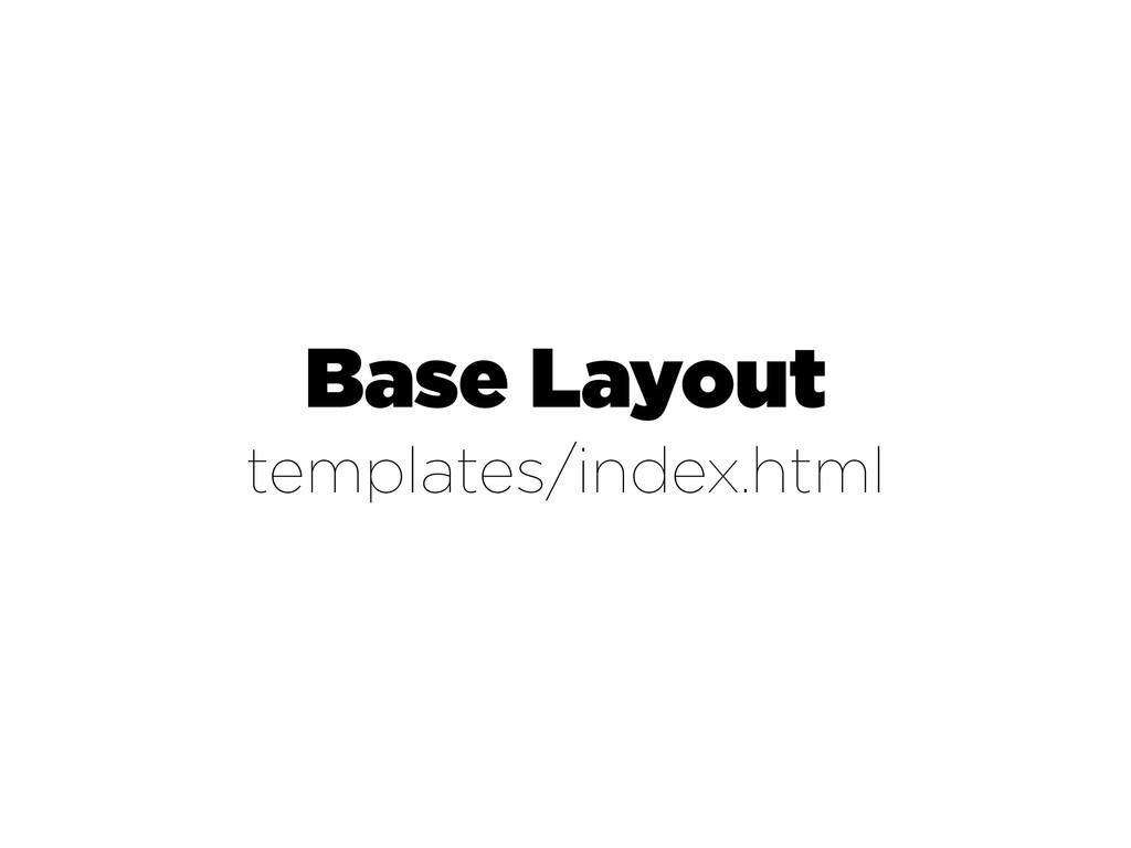 Base Layout templates/index.html