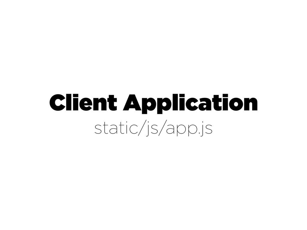 Client Application static/js/app.js