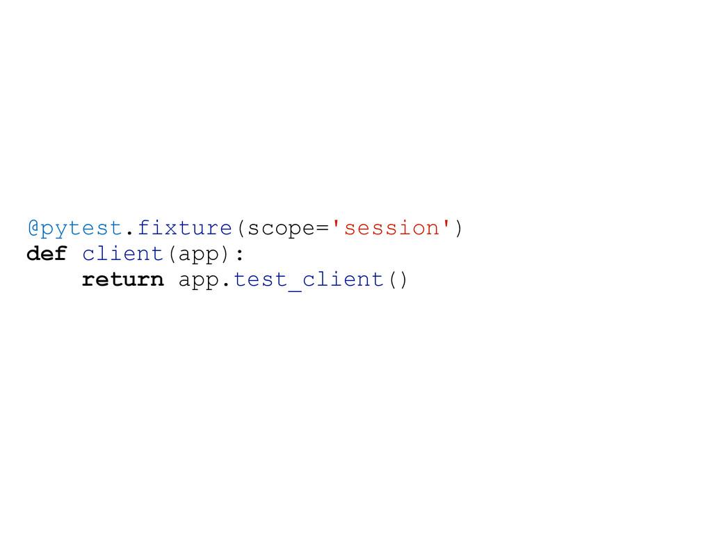 @pytest.fixture(scope='session') def client(app...