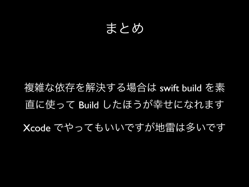 ·ͱΊ ෳͳґଘΛղܾ͢Δ߹ swift build Λૉ ʹͬͯ Build ͨ͠...