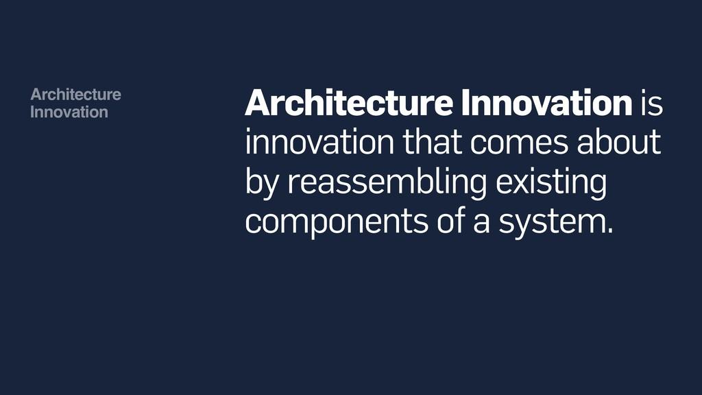 Architecture Innovation Architecture Innovatio...