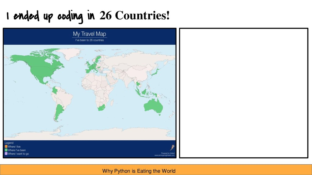 I ended up coding in 26 Countries! Why Python i...