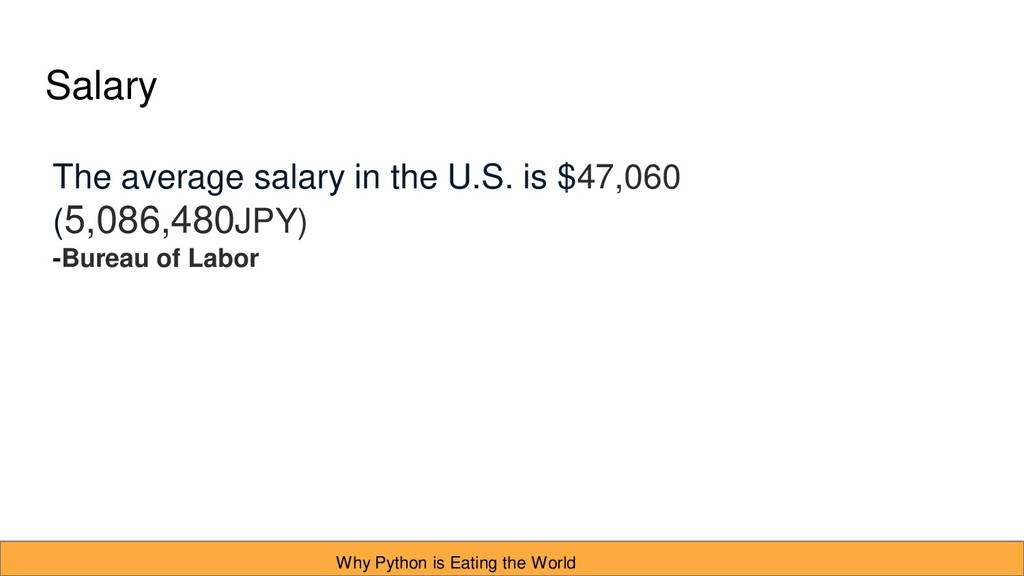 Salary The average salary in the U.S. is $47,06...