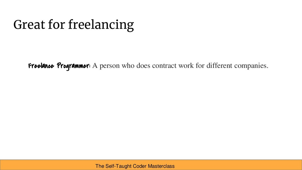 Great for freelancing Freelance Programmer: A p...