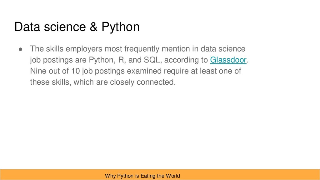 Data science & Python ● The skills employers mo...