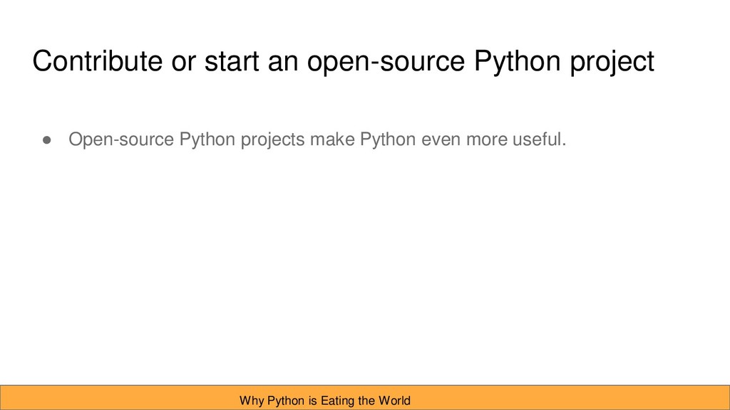 Contribute or start an open-source Python proje...