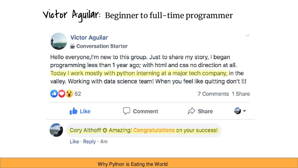 Victor Aguilar: Beginner to full-time programme...