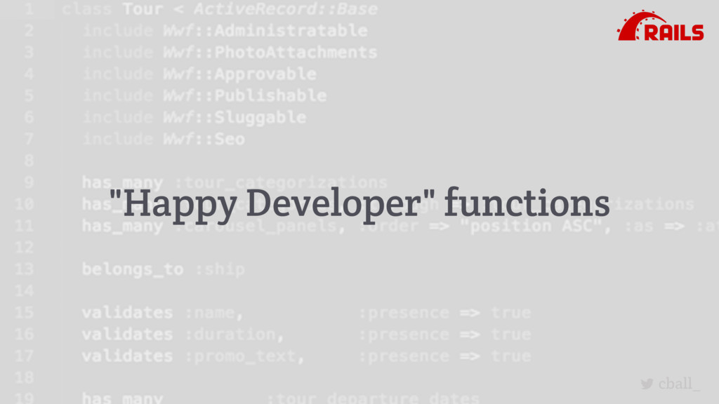 "cball_ ""Happy Developer"" functions"