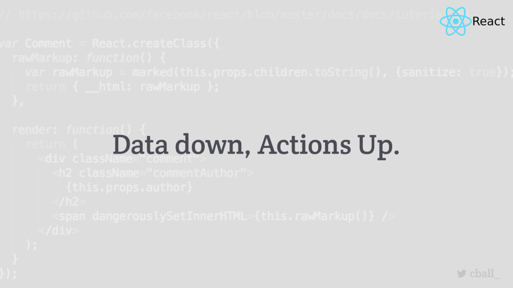 cball_ Data down, Actions Up.