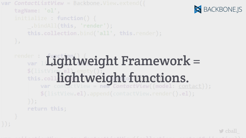 cball_ Lightweight Framework = lightweight func...
