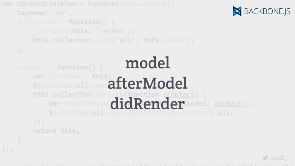 cball_ model afterModel didRender