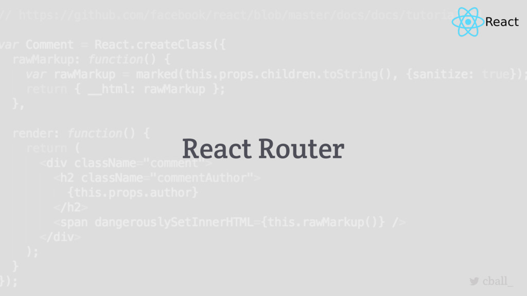 cball_ React Router