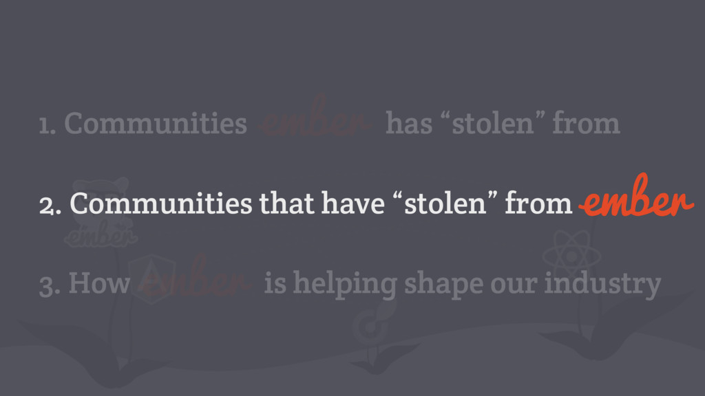 "has ""stolen"" from 1. Communities 2. Communities..."