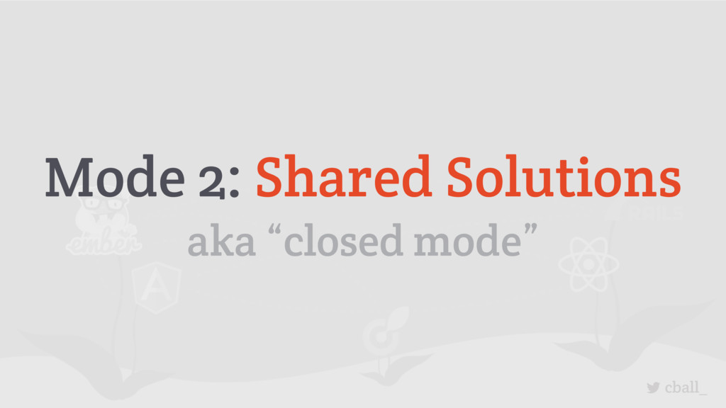 "cball_ Mode 2: Shared Solutions aka ""closed mod..."