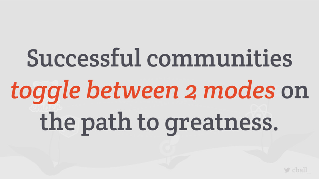 cball_ Successful communities toggle between 2 ...