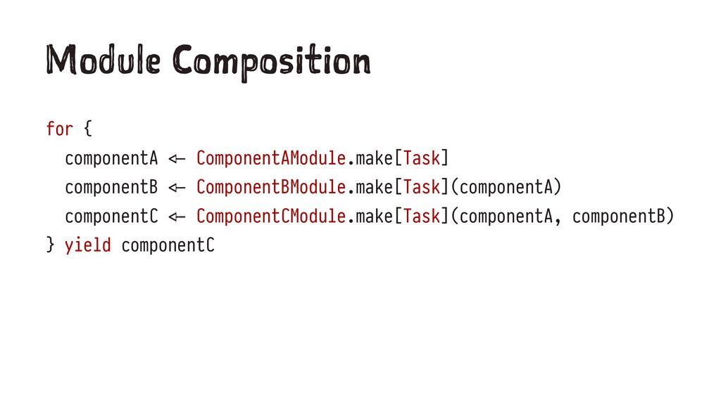 """M du e om os ti n for { componentA !"""" Component..."""