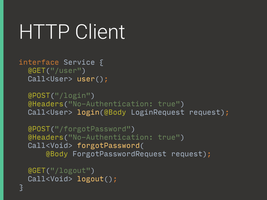 HTTP Client interface Service {