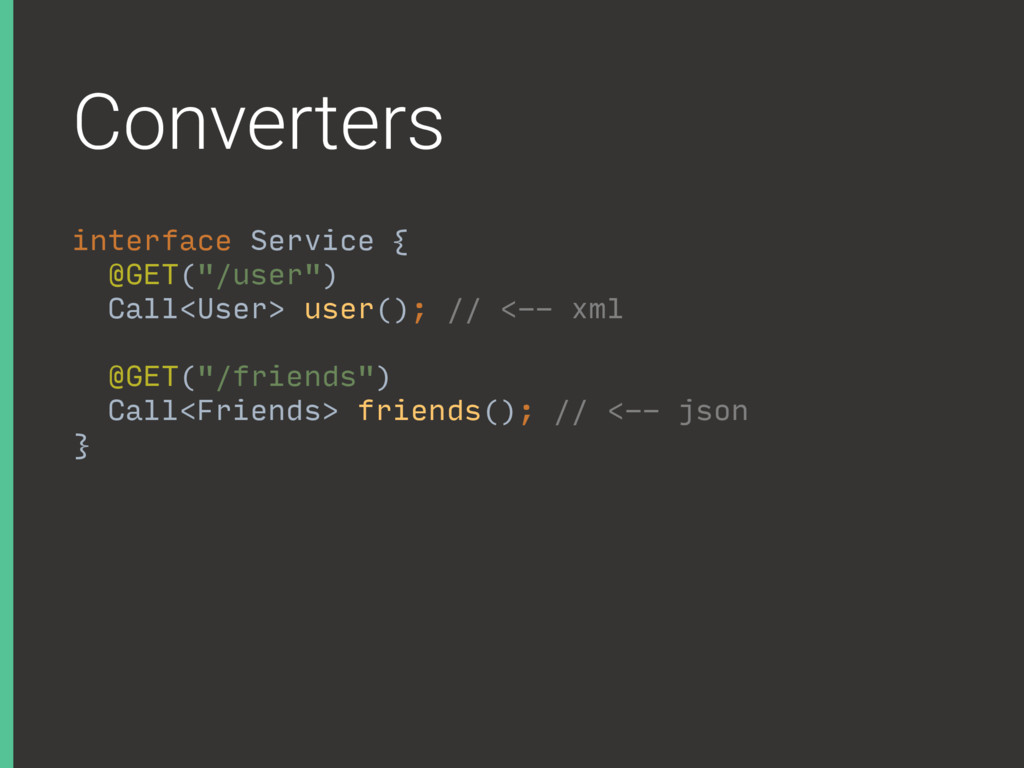 Converters interface Service {
