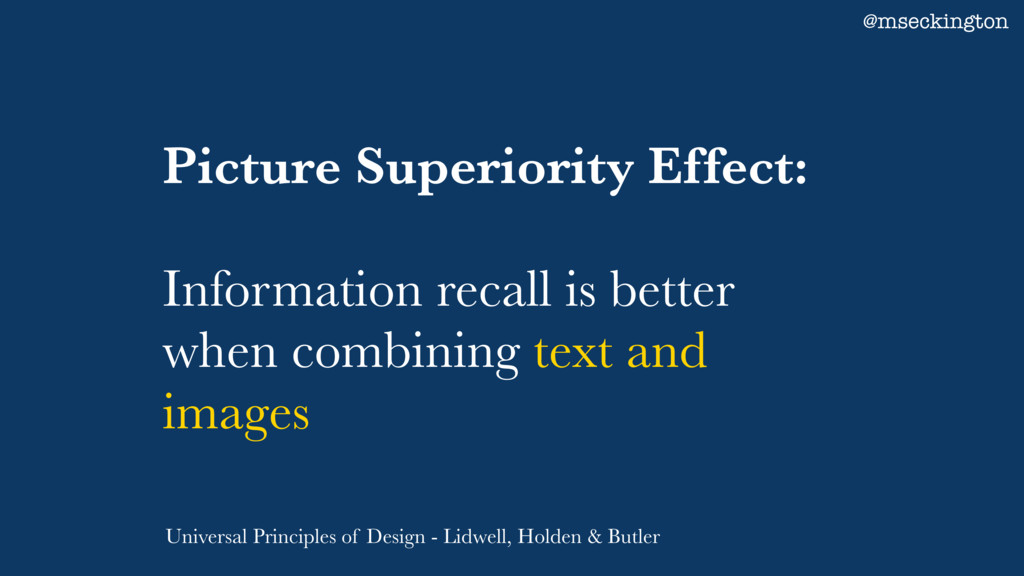 Picture Superiority Effect: Information recall ...