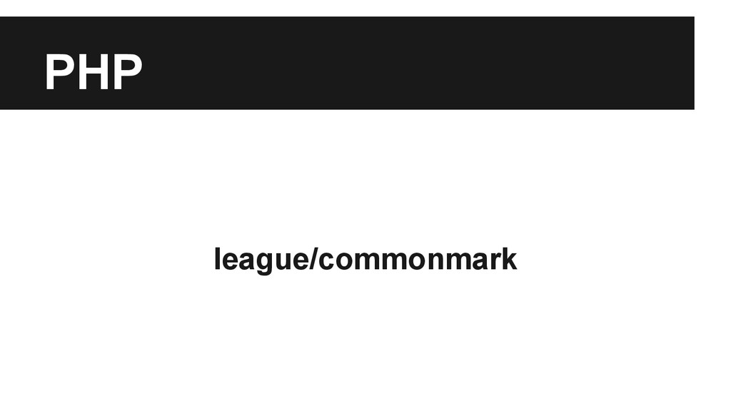PHP league/commonmark