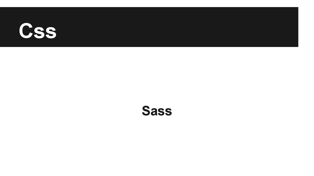 Css Sass