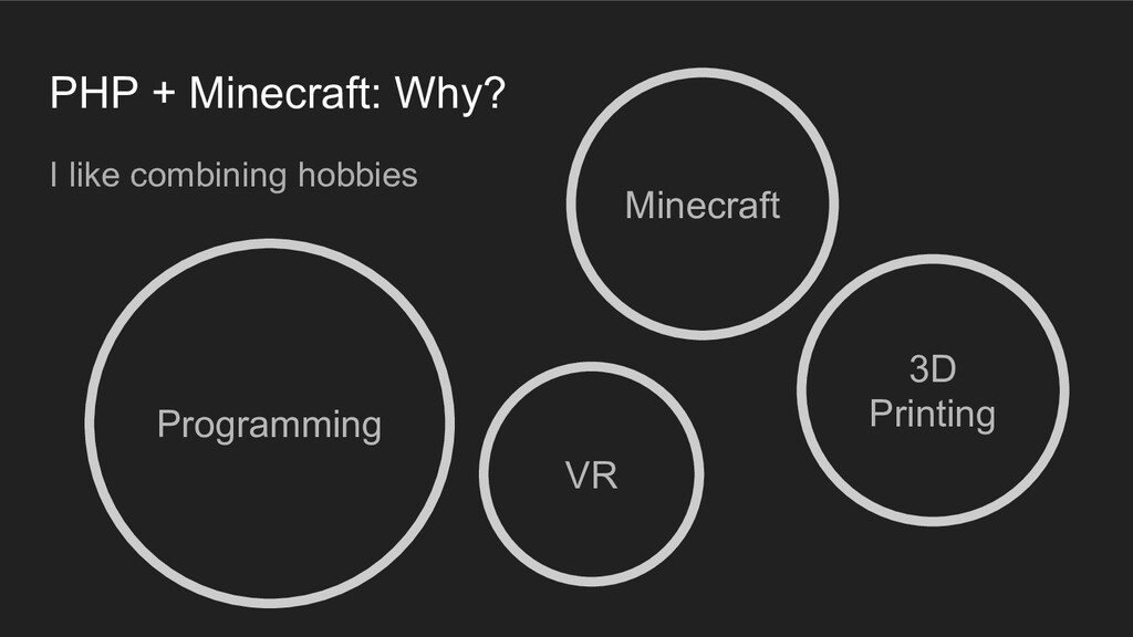 PHP + Minecraft: Why? I like combining hobbies ...