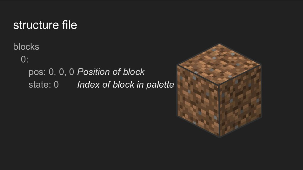 structure file blocks 0: pos: 0, 0, 0 Position ...