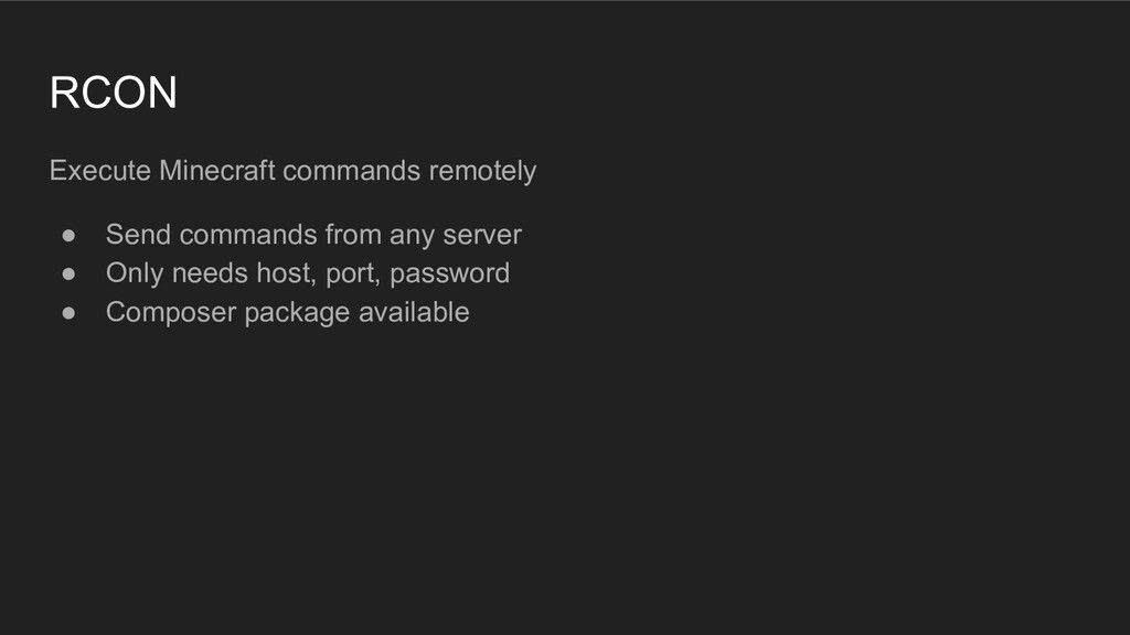 RCON Execute Minecraft commands remotely ● Send...