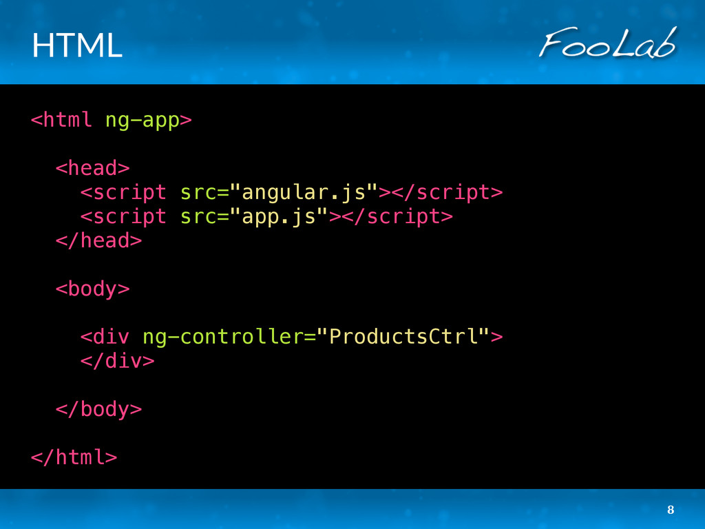 "HTML <html ng-app> <head> <script src=""angular...."