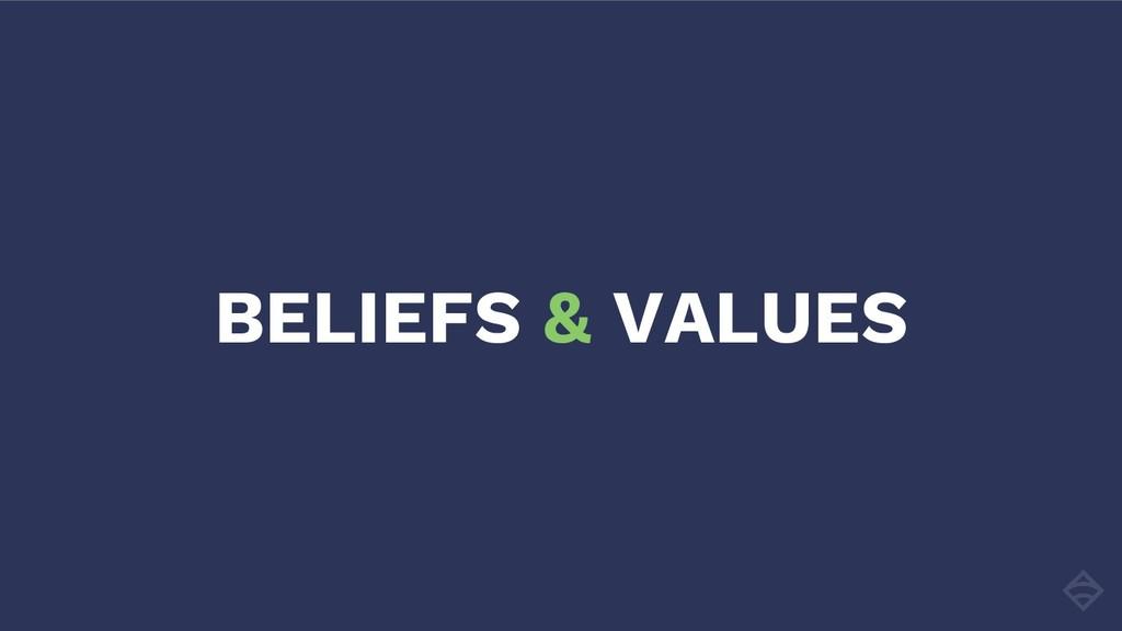 BELIEFS & VALUES