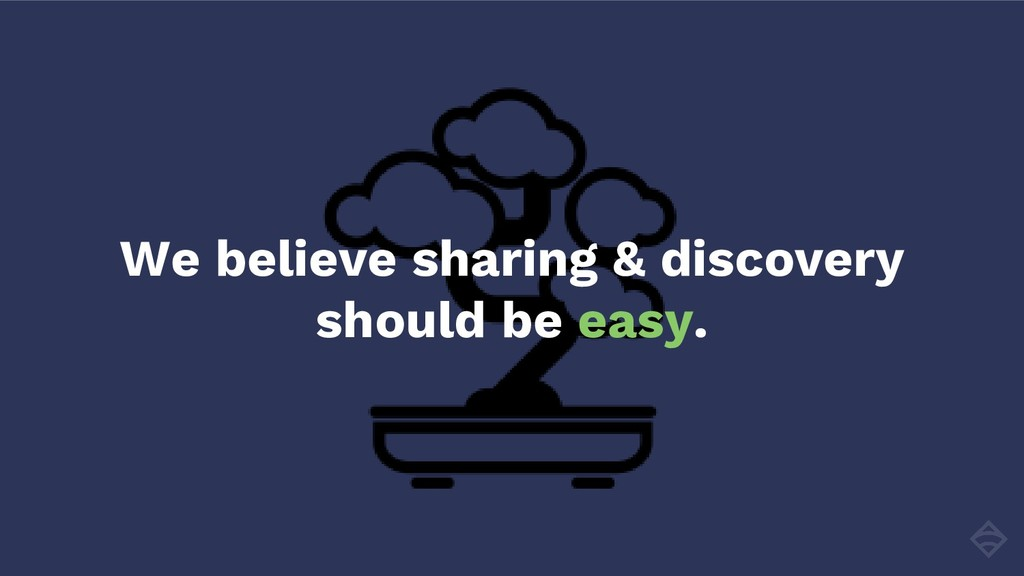 We believe sharing & discovery should be easy.