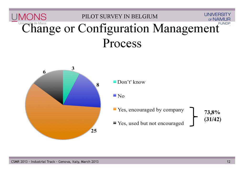 Change or Configuration Management Process 12 C...