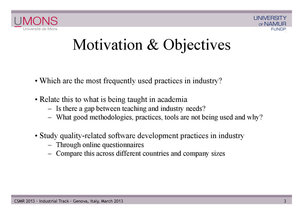 Motivation & Objectives • Which are the most f...