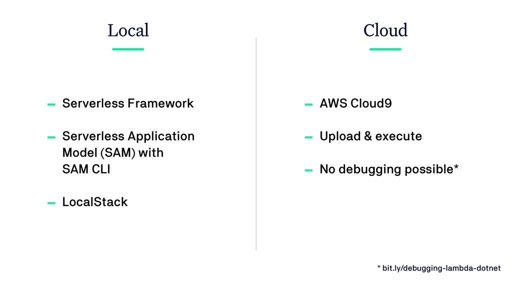 Local Cloud - Serverless Framework - Serverless...