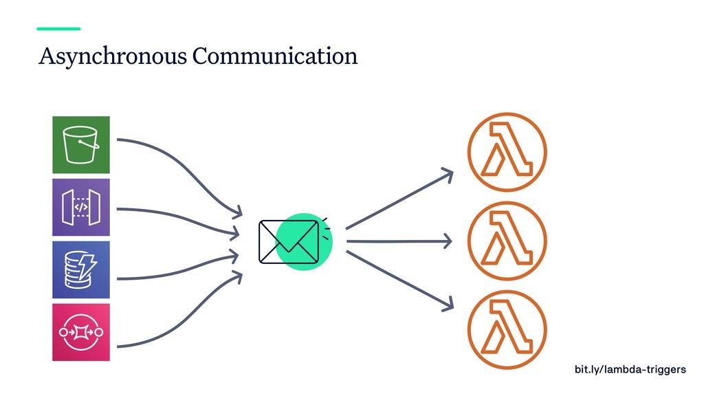 bit.ly/lambda-triggers Asynchronous Communicati...