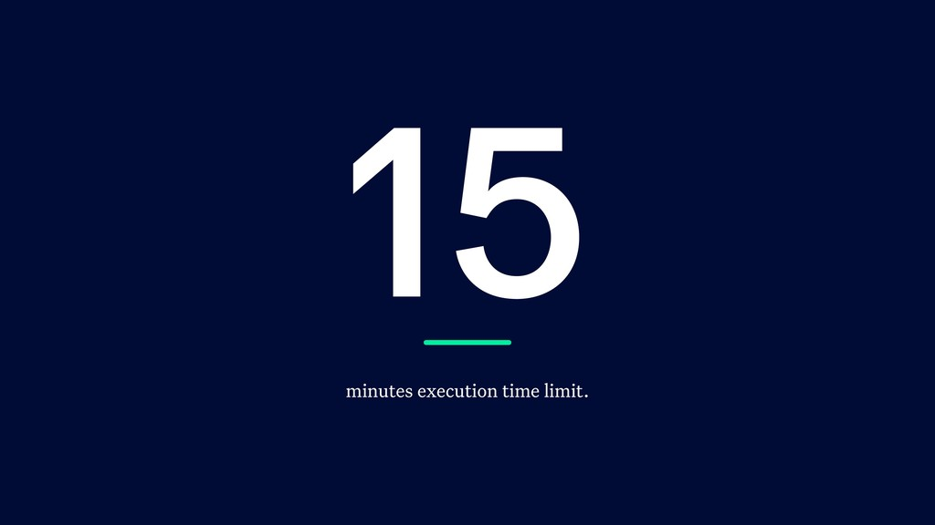 15 minutes execution time limit.