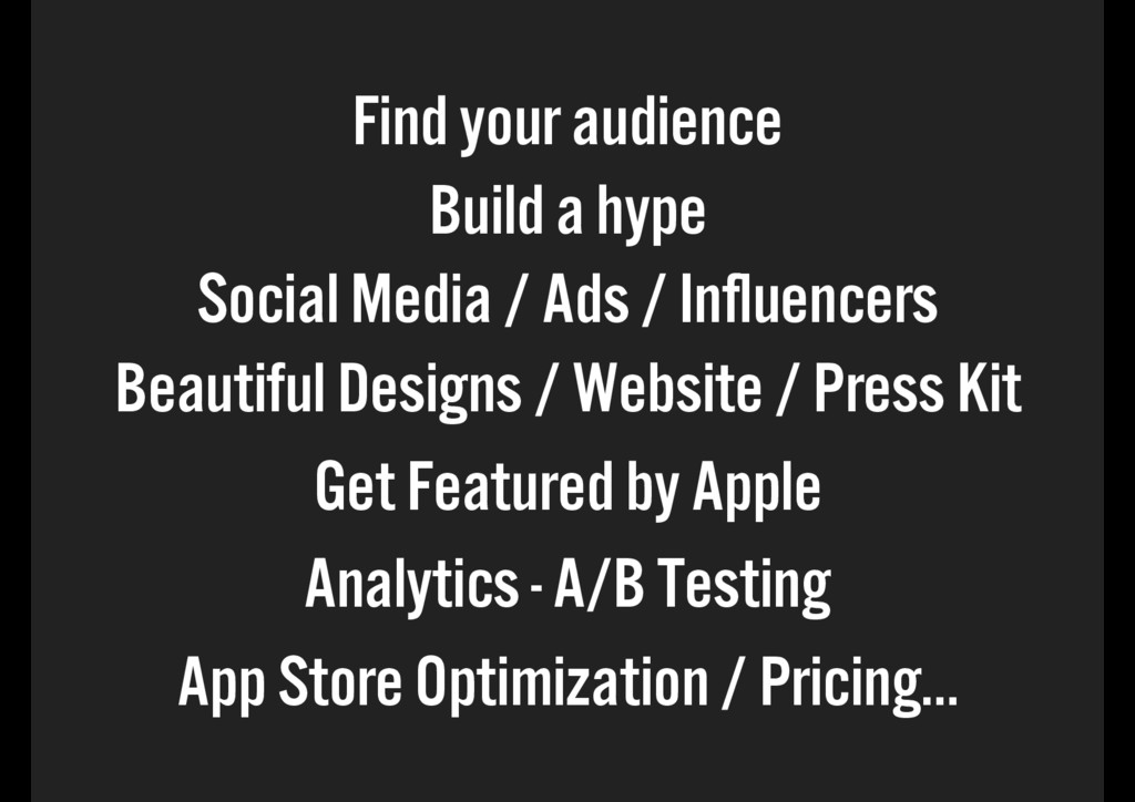Find your audience Build a hype Social Media / ...