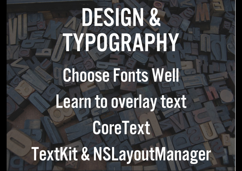 DESIGN & TYPOGRAPHY Choose Fonts Well Learn to ...