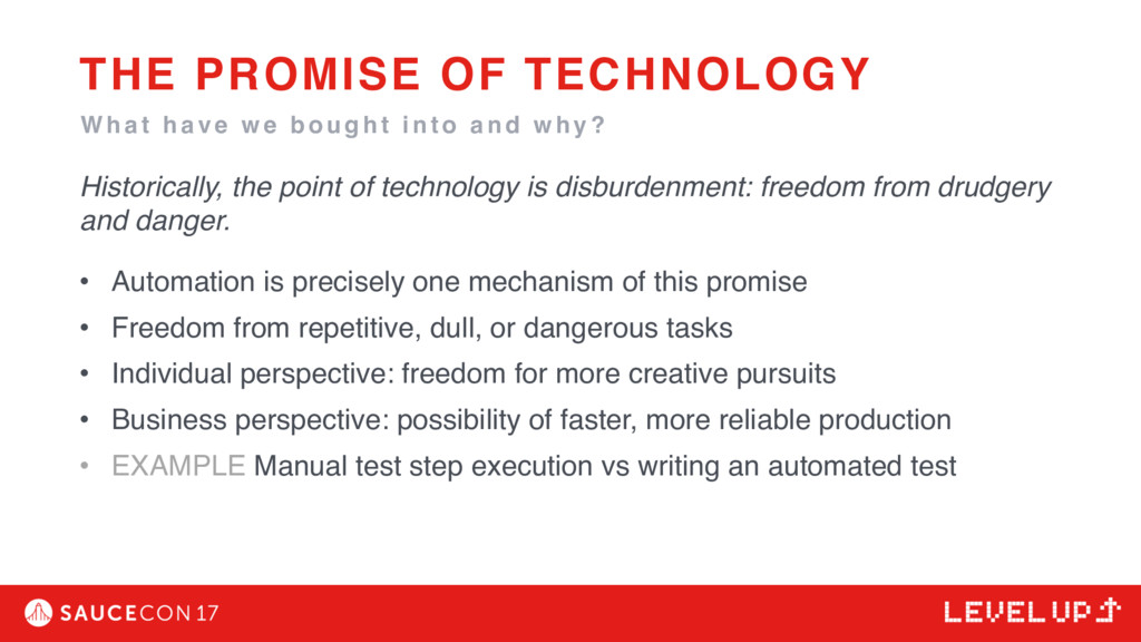 Historically, the point of technology is disbur...