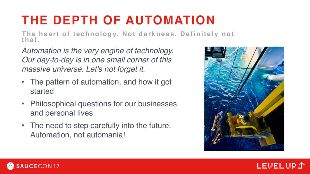 Automation is the very engine of technology. Ou...