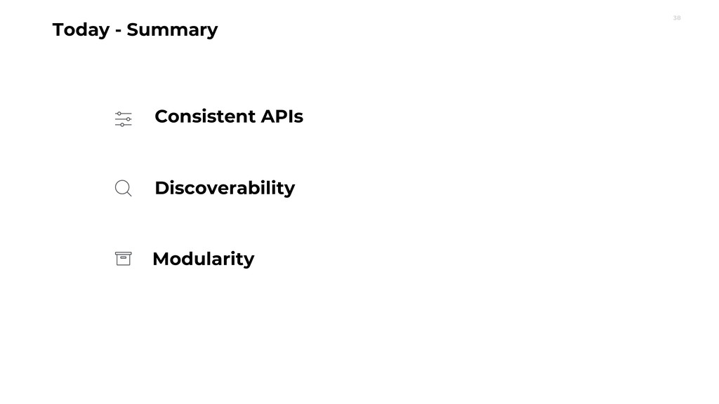 38 Today - Summary Discoverability Consistent A...