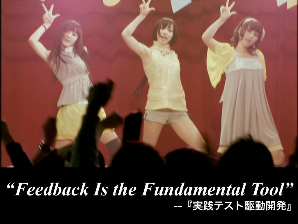 """Feedback Is the Fundamental Tool"" ʰ࣮ફςετۦಈ։ൃʱ"