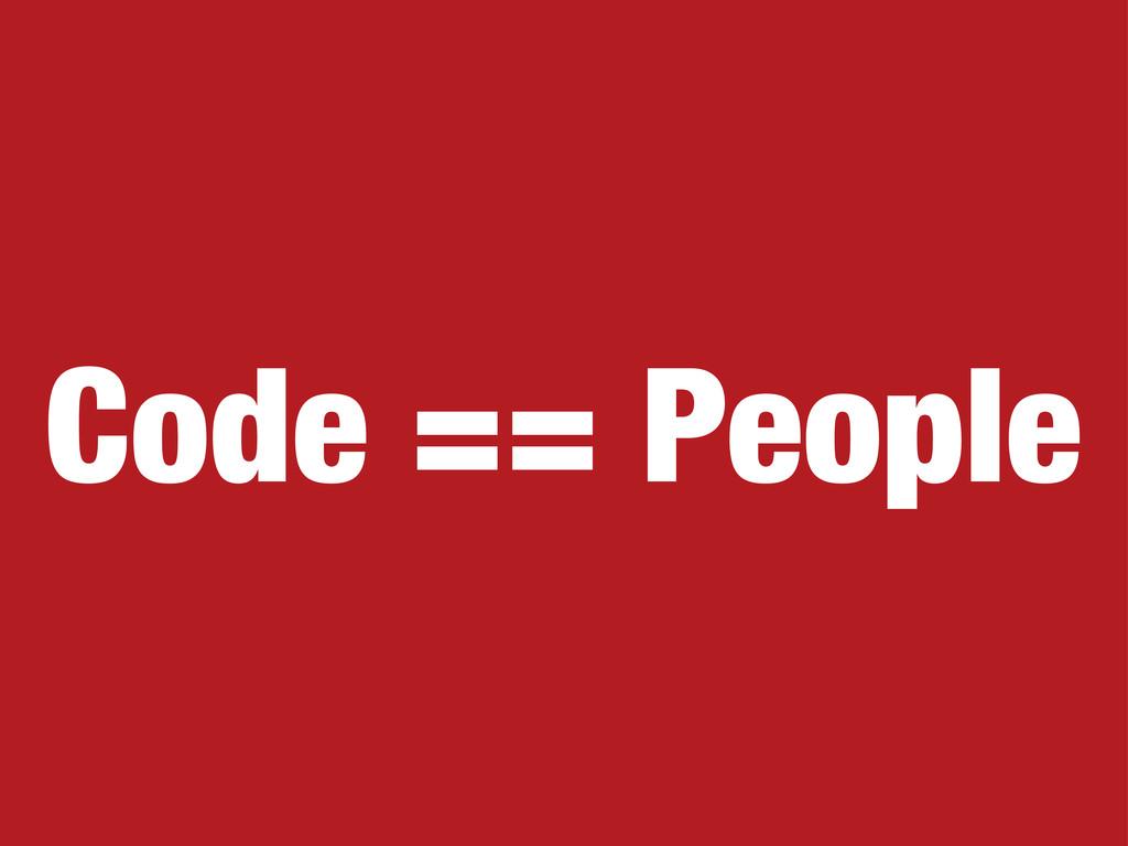 Code == People