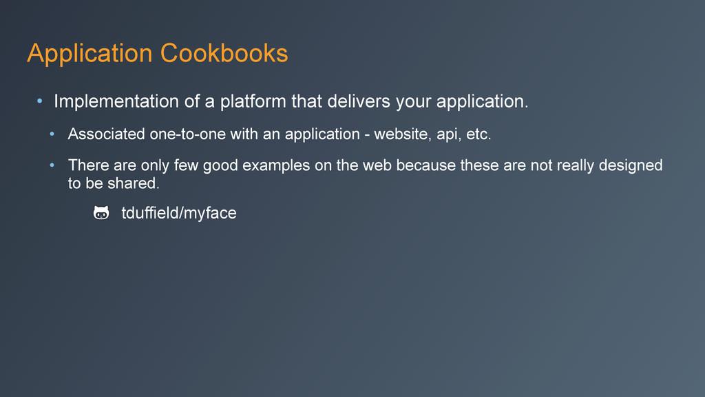 Application Cookbooks • Implementation of a pla...