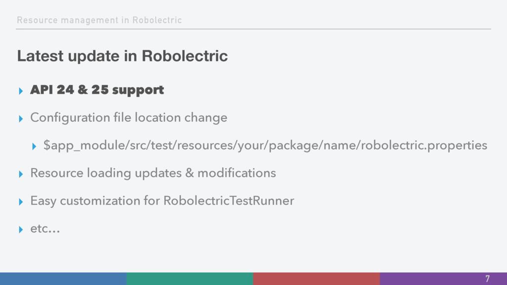Resource management in Robolectric Latest updat...
